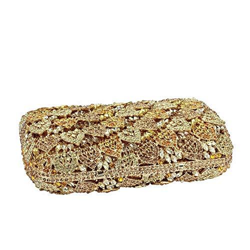 jx-bags New Dinner-Paket voller hohlen hohlen Abendessen Tasche Clutch Bag Braut Geschenk High-End-Damen @ gelb - West-clutch-handtasche