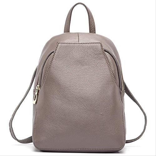yingteng Ankunft Frauen Rucksack 100% Echtes Leder Damen Reisetaschen Adrette Schultaschen Für Mädchen Rucksack Urlaub Grau - 100% Echtes Leder