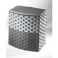 Wäschebehälter aus Naylon Farbe grau mit Futter klein