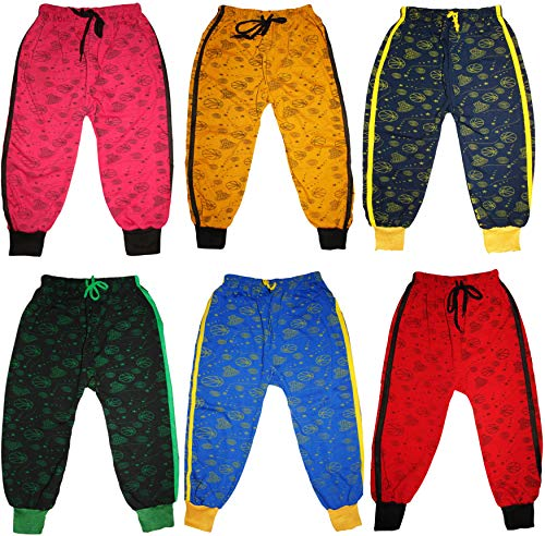 Track Pants Lower Bottom AllPrint For Kids Boys and Girls Pack of 6 (3-4 Years)