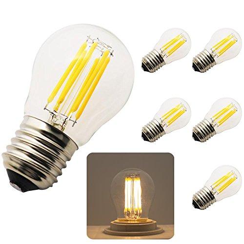 5 Stück G45 E27 Mini Globe LED Glühbirne Warm Weiß 2700K, 6W = 50W, Nicht dimmbar, 360 Grad Strahlungswinkel, LED Edison Schraube Glühbirne, Energiesparlampen,