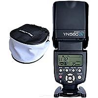 Yongnuo 560iv YN560 IV Flash Speedlite avec wecellent Mini Boîte à lumière Diffuseur pour Canon, Nikon, Olympus, Panasonic