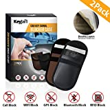 KeyJail® 2 Pack Car Key Signal Blocker Case, Keyless Entry Fob Guard Signal Blocking Pouch, Double Layered Anti Theft Lock Device Protection Against WIFI/GSM/LTE/NFC/RF