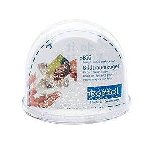 Koziol 6222101 Big Boule à Neige avec Photo Plastique Transparent 9 x 9 x 7,5 cm