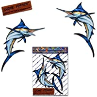 Marlin pez espada pequeños pez de coches pegatinas de coches para los barcos de coches-ST00013TP_SML - JAS pegatinas