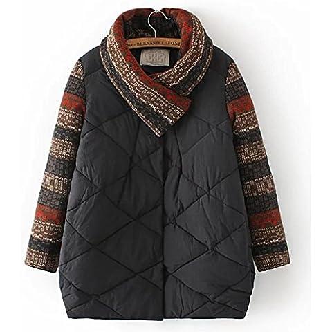 YUYU Ultra Escudo poco voluminoso llanura ligera de las mujeres del invierno Outwear , xl , black