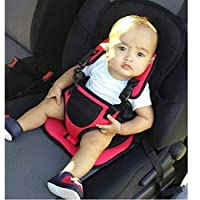 AVISA GLOBAL Baby's Adjustable Car Cushion Seat with Safety Belt Multi-Function (RED)
