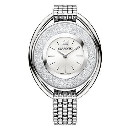 Swarovski crystalline oval white braccialetto watch