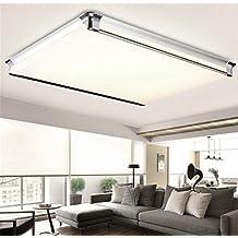 Deckenleuchte Aluminium PVC Wohnzimmer Modern Led Smd Rechteckig Silber Ultraslim Wohnzimmerlampe Decke Lampe Leuchten Badlampe Badezimmer