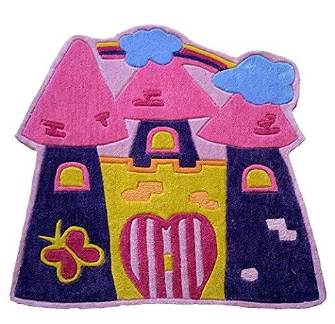 Children's 'Fairytale Castle' Play Rug - 090cms x 090cms