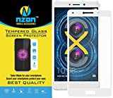 Honor 6x Tempered Glass Full Cover Original [Anti Fingerprint] [Edge to Edge Crash Protection] Curved [Scratch Proof] [Bubble Free] Tempered Glass Screen Protector for Honor 6x - White