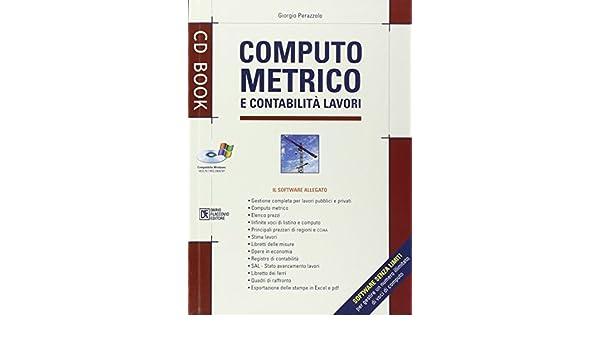 Amazon computo metrico e contabilità lavori con cd rom