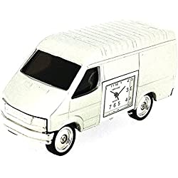 Park Lane silberfarbene 'White Man Van' Sammelminiaturuhr PLCLK147