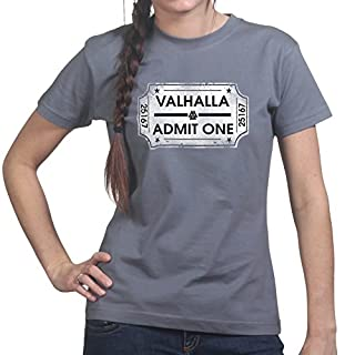 Ticket To Valhalla Vikings Norsk Ladies T shirt