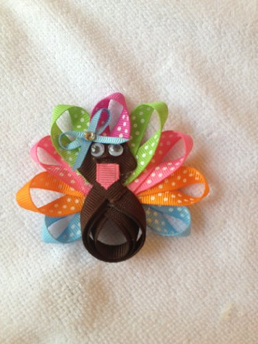 Scrapbooking Ribbon Bow (Thanksgiving Turkey Ribbon Sculpture for Hair Bows, hair clippies, scrapbooking and decorating (English Edition))