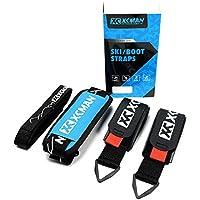 Juego de correas de esquí, correas ajustables y resistentes para el hombro de esquí con correa de botas
