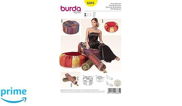 Burda Schnittmuster Pouf & Kissen 6881: Amazon.de: Küche & Haushalt