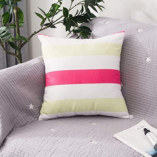 Home Nordic Stoff Sofa Art Striped Square Kissen Kissen Baumwolle Bürokissen 45X45Cm (Körper Patrol Kissen Paw)