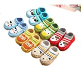 Baby Floor Socks,Home Pure cotton Non-slip- 3 double / 6 double