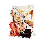 SOUND Pop Up 3D Geburtstag Karte PopShot Klassische Musik 18x13 cm