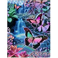 dragonaur Butterfly Cat Pattern 5D DIY Embroidery Diamond Painting Wall Sticker Home Decor size 1 (1#)