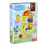 Open up Peppa's House to reveal lots of rooms and a garden area! There's lots of furniture, 2 articulated Peppa and George figures, plus a see-saw and tree for outdoor fun! Make up lots of Peppa Pig stories, push Peppa & George on the see...