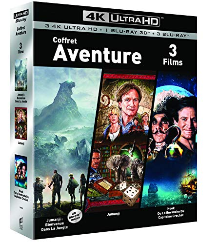 COFFRET AVENTURE 4K UHD - Jumanji / Jumanji : Bienvenue dans la jungle/ Hook - Exclusif Amazon [Blu-ray]