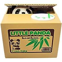 icase4u Original y Fantástico Hucha electrónica con Sonidos Money Bank Travieso Gato/Panda Robar Coger Dinero Juguetes de los Niños (Panda)