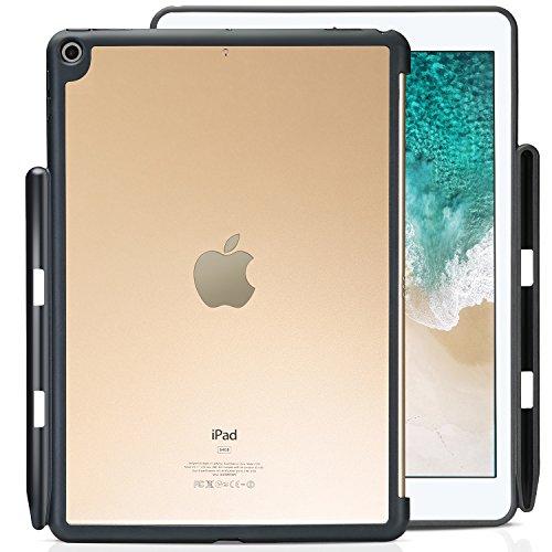 ProCase iPad 9.7 Zoll Hülle, Schutzhülle Rückseitesabdeckung mit Apple Stifthalter für iPad 9.7 Zoll 2018 iPad 6 Generation/2017 iPad 5 Generation, Passend für Apple Smart Cover-Klar