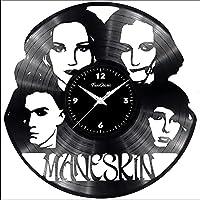 Fusorario Orologio disco in LP 33 Giri Silenzioso Idea Regalo caricatura Maneskin 2