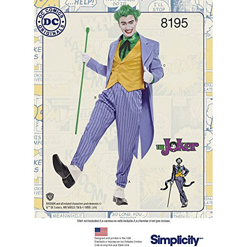 Simplicity Men's Joker Costume D.C. (Dc Comic Joker Kostüme)