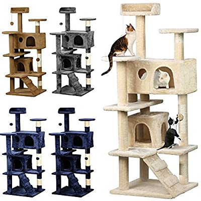 Beyondfashion Cat Scratcher Cat Tree Activity Centre Scratching Post 132cm