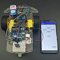REES52 Android Application Controlled Smart Robot Car Using HC-06 Bluetooth Module Interfacing with Arduino Uno with Step by Step Manual - KT698