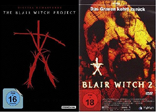 The Blair Witch Project 1+2, dvd Set, I & II, deutsch uncut