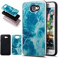 Galaxy J5Prime caso, Galaxy On52016caso, ikasus Slim doble capa protectora caso mármol 2en 1Híbrido Carcasa rígida y suave silicona Carcasa de TPU para Samsung Galaxy J5Prime