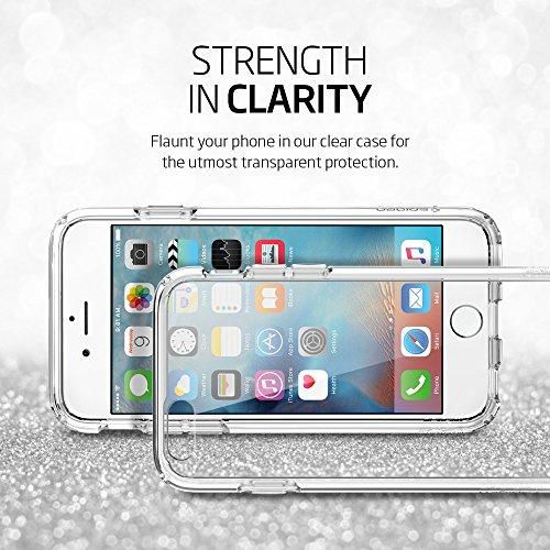 iPhone 6S Hülle, Spigen® [Ultra Hybrid] Luftpolster-Technologie [Crystal Clear] Einteilige Transparent Handyhülle Durchsichtige PC Rückschale mit Silikon TPU Bumper Schutzhülle für Apple iPhone 6/6S C Einfarbig