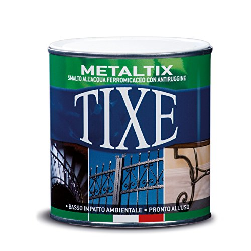 Tixe metaltix 609.505 - vernice antiruggine ferromicaceo all'acqua, verde, 500 ml