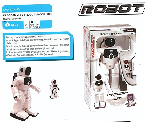 PROGRAM-A-BOT ROBOT I/R C/LUCI 20X13X34 88307