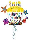 Amscan Anagram 2879601 - Party und Dekoration - Folienballon SuperShape - Happy Birthday, circa 71 x 66 cm