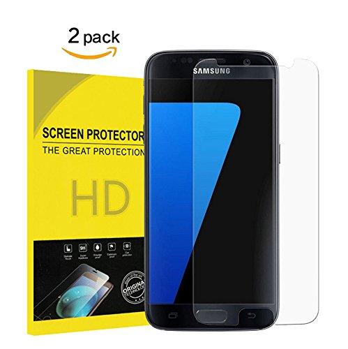 OMGTech für Galaxy S7 Panzerglasfolie Displayschutzfolie, [2 Stück] 9H Härte, Fingerabdruck,Blasen und HD Anti-Öl,Kratzer, Einfaches Anbringen,Schutzfoliefür Samsung Galaxy S7