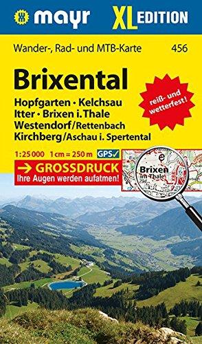 Brixental XL 1 : 25 000: Wander-, Rad- und Mountainbikekarte. GPS-genau