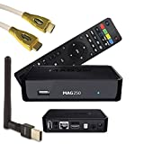MAG 250 BOX Multimedia player Internet TV Box IPTV Original USB HDMI HDTV + PremiumX WiFI Mega WLAN Stick mit Antennenbuchse bis zu 150Mbps + 1,0m HDMI Kabel PremiumX