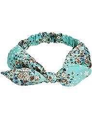 Bandas para mujer Auxma Muchacha encantadora de las mujeres muchacha floral del conejo venda de la venda del pelo (Azul)