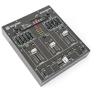 Skytec 172982Table de mixage 4canaux avec effets, SD/USB/MP3/BT