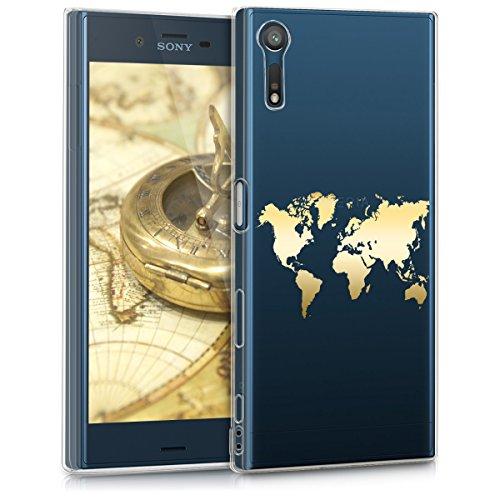 kwmobile Sony Xperia XZ/XZs Hülle - Handyhülle für Sony Xperia XZ/XZs - Handy Case in Gold Transparent