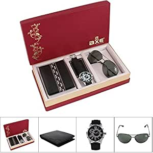 Axe Style Men's Multicolor Combo Of Watch , Wallet And Sunglass Men