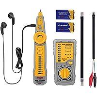 Kabeltester, Tacklife CT01 Klassisches Wire Tracker RJ11 RJ45 Kabeltester für die Kollation des Netzwerk Kabels, Telefonkabel, Durchgangsprüfung, Schwache Batterieanzeige mit Hintergrundbeleuchtung)