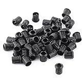 Walfront 50Pcs Soporte de Plástico Negro de Lámpara Zócalo de Diodo Soporte Clip Montaje de LED Bombillas 3mm 5mm 8mm 10mm (8mm)