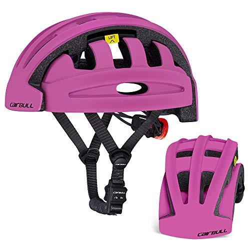 Explopur Klapphelm - Klapphelm Faltbarer Fahrradhelm für Männer Frauen Radfahren Skating Roller Sport Sicherheit Schutzhelm (Lila)