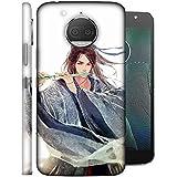 LifeDesign Designer Back Case Cover For Motorola Moto G5S (Pretty Girl Enjoying With Flute)